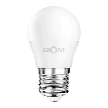 Светодиодная лампа Biom BT-584 G45 9W E27 4500К матовая
