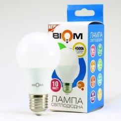 Світлодіодна лампа Biom BT-510 A60 10W E27 4500К матова. Фото 2