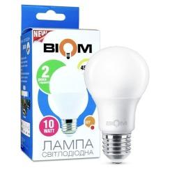Світлодіодна лампа Biom BT-510 A60 10W E27 4500К матова. Фото 3
