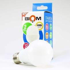 Светодиодная лампа Biom BT-512 A60 12W E27 4500К матовая. Фото 2
