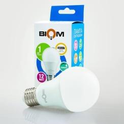 Світлодіодна лампа Biom BT-532 A60 12W E27 4500К dimmable матова. Фото 2