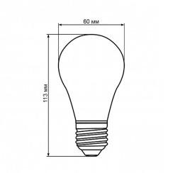 Світлодіодна лампа Biom BT-532 A60 12W E27 4500К dimmable матова. Фото 4