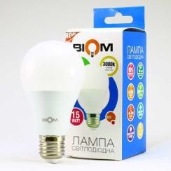 Світлодіодна лампа Biom BT-515 A65 15W E27 3000К матова. Фото 3