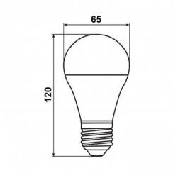 Светодиодная лампа Biom BT-516 A65 15W E27 4500К матовая. Фото 3