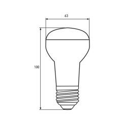 Світлодіодна лампа Biom BT-556 R63 9W E27 4500К матова. Фото 2