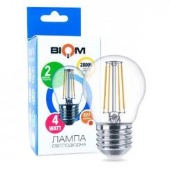 Світлодіодна лампа Biom FL-301 G45 4W E27 2800K