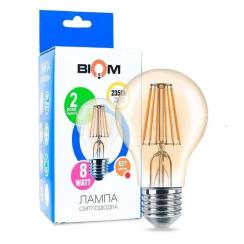 Світлодіодна лампа Biom FL-411 A60 8W E27 2350K Amber. Фото 3