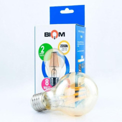 Світлодіодна лампа Biom FL-411 A60 8W E27 2350K Amber. Фото 2