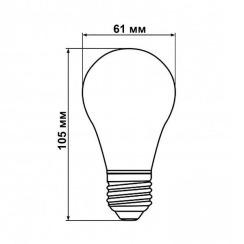 Світлодіодна лампа Biom FL-411 A60 8W E27 2350K Amber. Фото 5