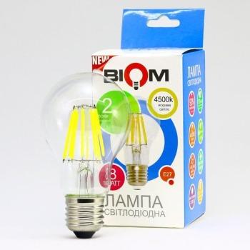 Світлодіодна лампа Biom FL-312 A60 8W E27 4500K