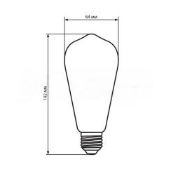 Світлодіодна лампа Biom FL-418 ST-64 8W E27 2350K Amber. Фото 2