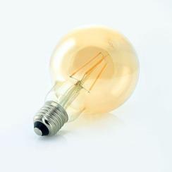 Светодиодная лампа Biom FL-420 G-95 8W E27 2350K Amber. Фото 2