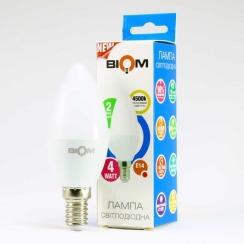 Світлодіодна лампа Biom BT-550 C37 4W E14 4500К матова. Фото 4