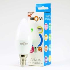Светодиодная лампа Biom BT-549 C37 4W E14 3000К матовая. Фото 4