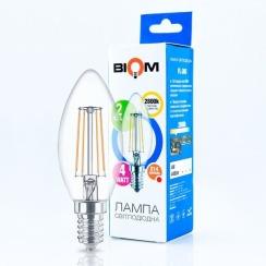 Светодиодная лампа Biom FL-305 C37 4W E14 2800K. Фото 3