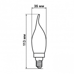Светодиодная лампа Biom FL-415 C35 LT 4W E14 2350K свеча на ветру (Бронзовое стекло). Фото 4
