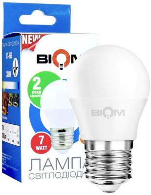 Светодиодная лампа Biom BT-563 G45 7W E27 4500К матовая