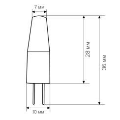 Светодиодная лампа Biom G4 3.5W 1507 4500K AC/DC12. Фото 4