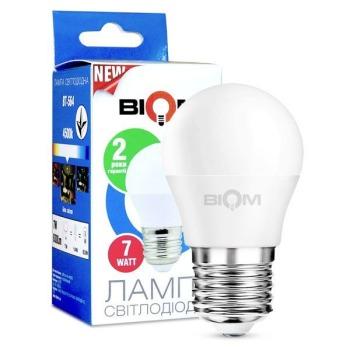 Світлодіодна лампа Biom BT-564 G45 7W E27 4500К матова