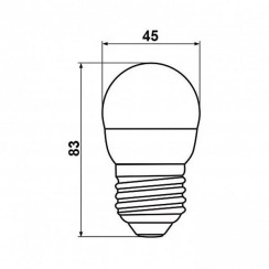Світлодіодна лампа Biom BT-564 G45 7W E27 4500К матова. Фото 4