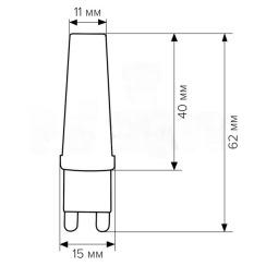 Світлодіодна лампа Biom G9 5W 2508 3000K AC220. Фото 2