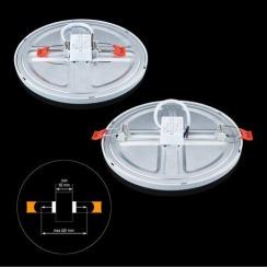 Світильник світлодіодний Biom CL-R18-5 18Вт круглий 5000К. Фото 3