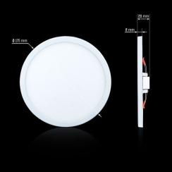 Світильник світлодіодний Biom CL-R18-5 18Вт круглий 5000К. Фото 2