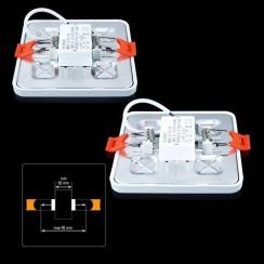 Світильник світлодіодний Biom CL-S9-5 5000K квадратний 9Вт. Фото 3