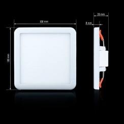 Светильник светодиодный Biom CL-S9-5 5000K квадратный 9Вт. Фото 2