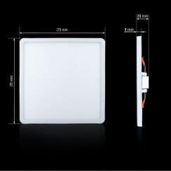 Светильник светодиодный Biom СL-S18W-5 18Вт квадратный 5000К. Фото 2
