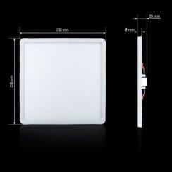 Світильник світлодіодний Biom СL-S24-5 24Вт квадратний 5000К. Фото 2
