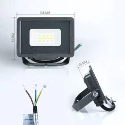 Світлодіодний прожектор Biom S5 10W SMD Slim 6200К 220V IP65. Фото 2