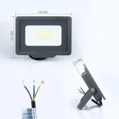 Светодиодный прожектор Biom S5 20W SMD Slim 6200К 220V IP65. Фото 2