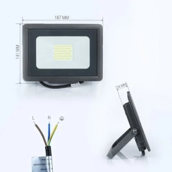 Светодиодный прожектор Biom S5 30W SMD Slim 6200К 220V IP65. Фото 2