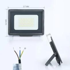 Світлодіодний прожектор Biom S5 50W SMD Slim 6200К 220V IP65. Фото 2