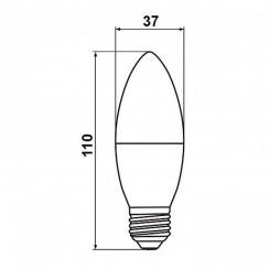 Светодиодная лампа Biom BT-567 C37 7W E27 3000К матовая. Фото 4