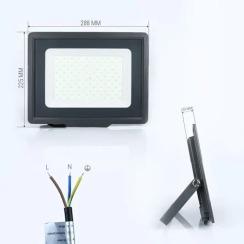 Светодиодный прожектор Biom S5 100W SMD Slim 6200К 220V IP65. Фото 2