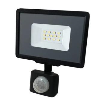 Світлодіодний прожектор Biom S5 10W SMD Slim 6200К 220V IP65 з датчиком руху