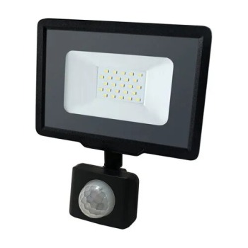 Світлодіодний прожектор Biom S5 20W SMD Slim 6200К 220V IP65 з датчиком руху