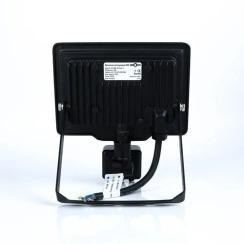 Світлодіодний прожектор Biom S5 20W SMD Slim 6200К 220V IP65 з датчиком руху. Фото 4