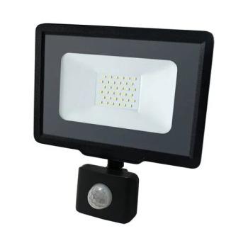 Светодиодный прожектор Biom S5 30W SMD Slim 6500К 220V IP65 с датчиком движения