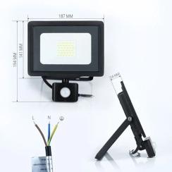 Светодиодный прожектор Biom S5 30W SMD Slim 6500К 220V IP65 с датчиком движения. Фото 2