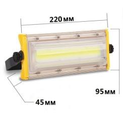 Світлодіодний прожектор BIOM 50W COB Professional IP65 slim 220V. Фото 3
