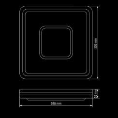 Світильник світлодіодний Biom SMART SML-S02-90 3000-6000K 90Вт з д/к. Фото 5