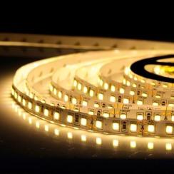 Светодиодная лента Biom 2835-120 IP20 WW тёплый белый, негерметичная, 1м. Фото 4