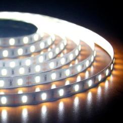 Світлодіодна стрічка Biom 5630-60 IP20 W холодний білий, негерметична, 1м. Фото 4