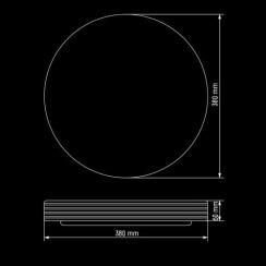 Світильник світлодіодний Biom SMART SML-R04-50 3000-6000K 50Вт з д/к. Фото 5