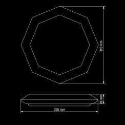 Світильник світлодіодний Biom SMART SML-R05-50 3000-6000K 50Вт з д/к. Фото 5