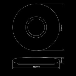 Светильник светодиодный Biom SMART SML-R07-50 3000-6000K 50Вт с д/у. Фото 5
