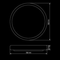 Светильник светодиодный Biom SMART SML-R08-80 3000-6000K 80Вт с д/у. Фото 5